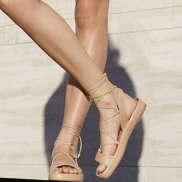 bf251af8d6c1f Diane Von Furstenberg Shoes - Diane von Furstenberg Susie Gold Leather  Sandal
